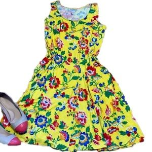 NWT 12W yellow floral sundress